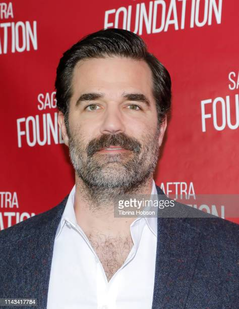 Rob Delaney attends SAGAFTRA Foundation conversations series with 'Catastrophe' at SAGAFTRA Foundation Screening Room on April 17 2019 in Los Angeles...