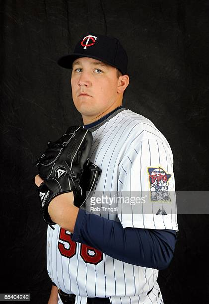 Rob Delaney of the Minnesota Twins poses during photo day at the Twins spring training complex on February 23 2008 in Fort Myers Florida