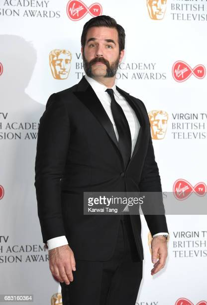 Rob Delaney poses in the Winner's room at the Virgin TV BAFTA Television Awards at The Royal Festival Hall on May 14 2017 in London England