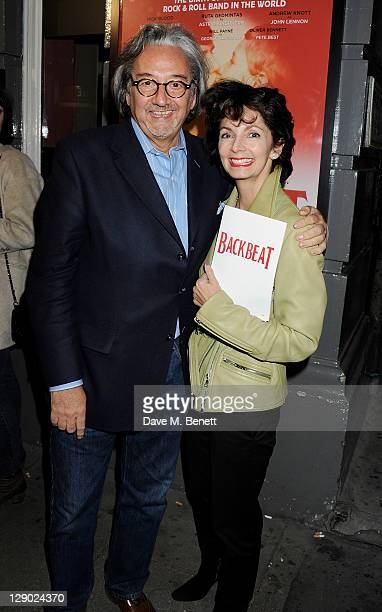 Rob Dickins and Cherry Gillespie attend an after party celebrating Press Night of 'Backbeat' at Asia de Cuba in St Martins Lane Hotel on October 10...