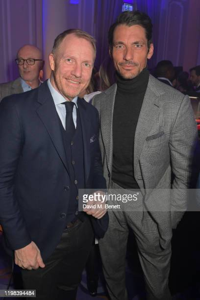 Rob Diver and David Gandy attend the GQ Car Awards 2020 in assoociation with Michelin at the Corinthia Hotel London on February 3 2020 in London...
