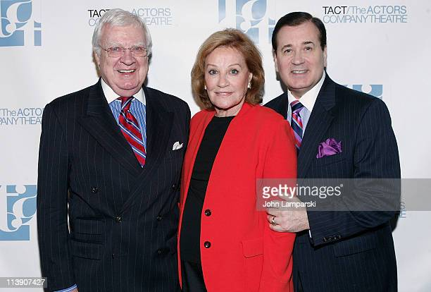 Rob Donahoe Cynthia Harris and Leroy Evans attend the TACT/The Actors Company Theatre Spring Gala at The Edison Ballroom on May 9 2011 in New York...