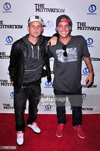 Rob Dyrdek and Ryan Sheckler arrive at the premiere of The Motivation at ArcLight Hollywood on July 30 2013 in Hollywood California