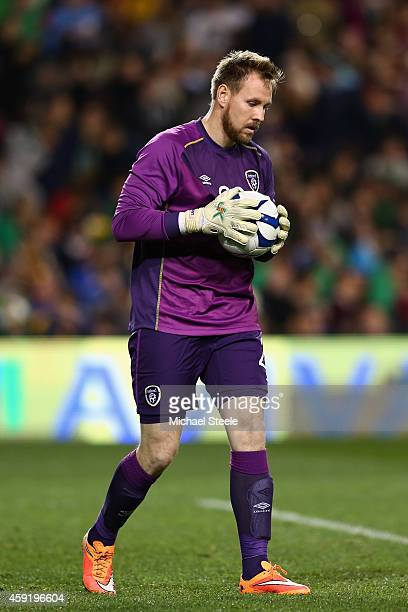 Rob Elliot of Ireland during the International Friendly match between the Republic of Ireland and USA at the Aviva Stadium on November 18 2014 in...
