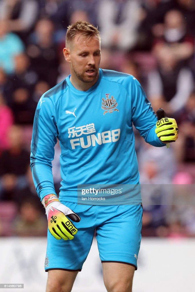 Rob Elliot of Newcastle during a pre-season friendly match between Heart of Midlothian and Newcastle United on July 14, 2017 in Edinburgh, Scotland.