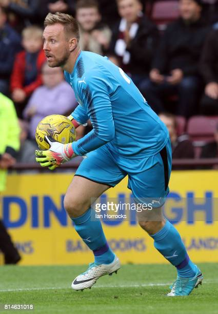 Rob Elliot of Newcastle during a preseason friendly match between Heart of Midlothian and Newcastle United on July 14 2017 in Edinburgh Scotland