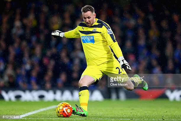 Rob Elliott of Newcastle United in action during the Barclays Premier League match between Chelsea and Newcastle at Stamford Bridge on February 13...