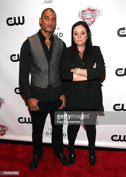 Rob Evans and Kelly Cutrone attend the America's Next Top Model College Edition Cycle 19 Premiere at the Tribeca Grand Hotel on August 22 2012 in New...
