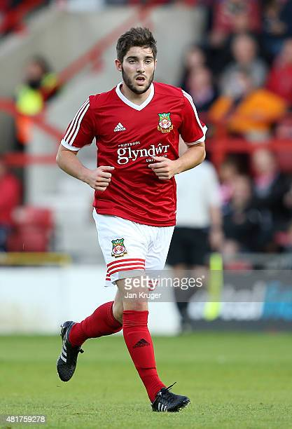 Rob Evans of Wrexham during the pre season friendly match between Wrexham and Stoke City at Racecourse Ground on July 22 2015 in Wrexham Wales