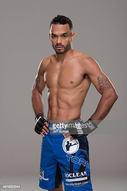 Rob Font poses for a portrait during a UFC photo session at the Mandalay Bay Convention Center on July 2 2014 in Las Vegas Nevada
