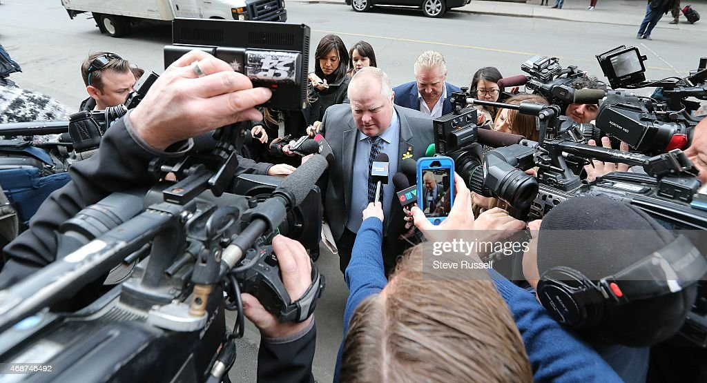 Ford Family Annouces Councillor Rob Ford Will Have Surgery To Remove Cancerous Tumour : News Photo