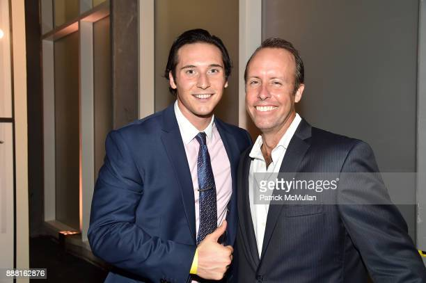 Rob Foster and Scott Allan attend the Unveiling of White Square by Richard Meier Partners at Citigroup Center on December 7 2017 in Miami Florida