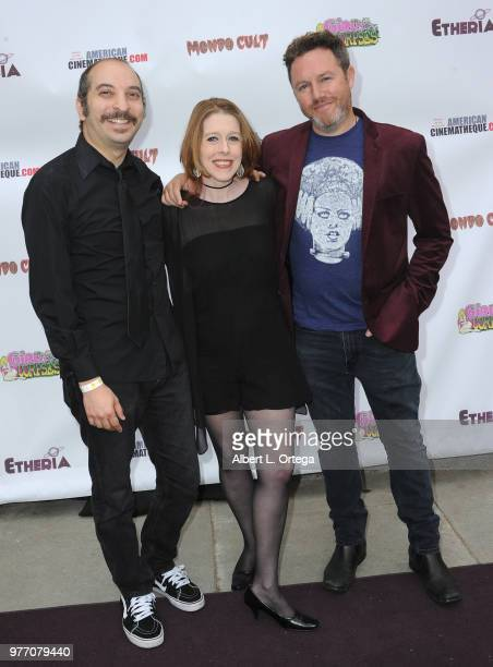 Rob Galluzzo Rebekah McKendry and Elric Kane arrive for the 2018 Etheria Film Night held at the Egyptian Theatre on June 16 2018 in Hollywood...