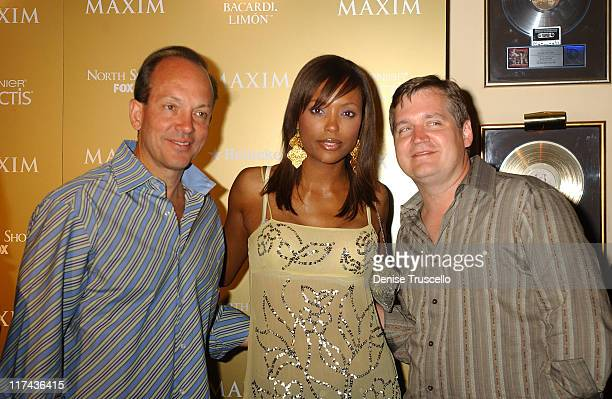 Rob Gregory Aisha Tyler and Keith Blanchard during Maxim Magazine Hot 100 Party in Celebration of the Grand Opening of Body English In the Hard Rock...