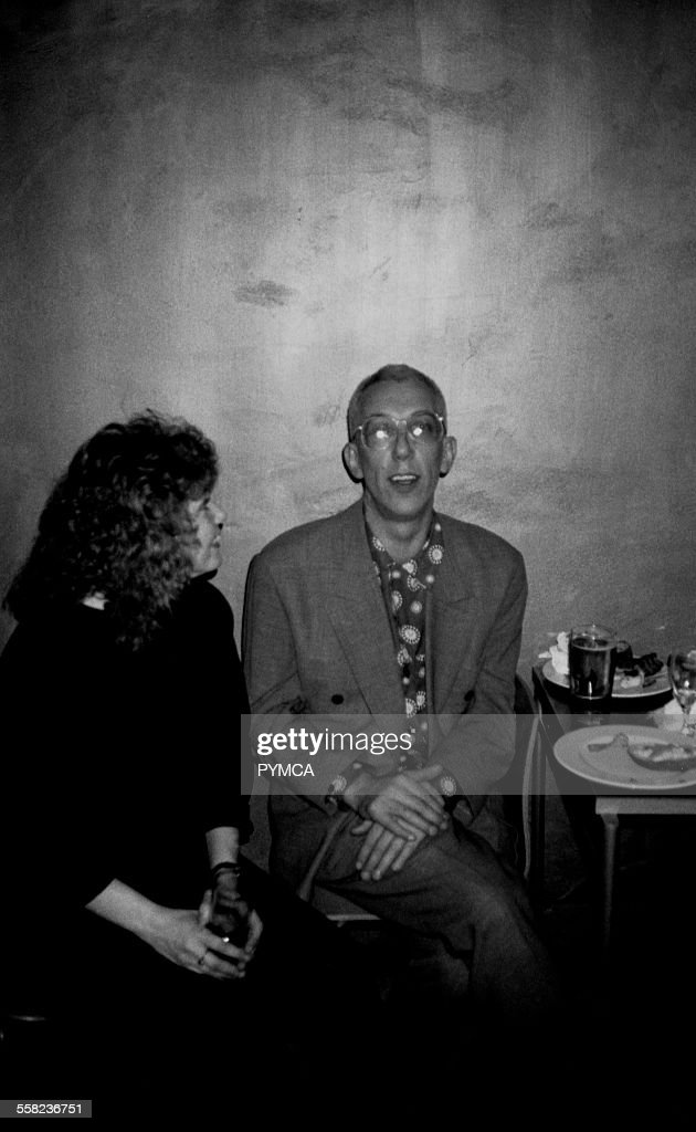 Rob Gretton, manager of New Order in Dry bar, Manchester 1990s : News Photo