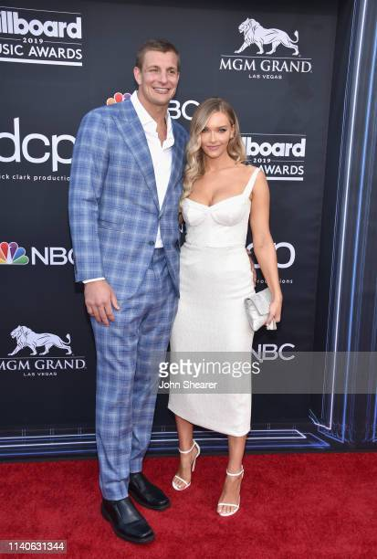 Rob Gronkowski and Camille Kostek attend the 2019 Billboard Music Awards at MGM Grand Garden Arena on May 1 2019 in Las Vegas Nevada