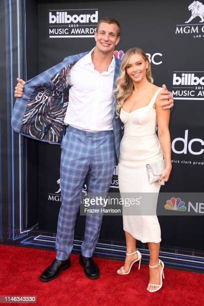 Rob Gronkowski and Camille Kostek attend the 2019 Billboard Music Awards at MGM Grand Garden Arena on May 01 2019 in Las Vegas Nevada