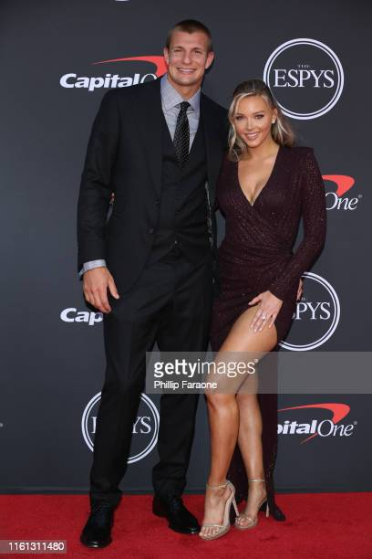 Rob Gronkowski and Camille Kostek attend The 2019 ESPYs at Microsoft Theater on July 10 2019 in Los Angeles California