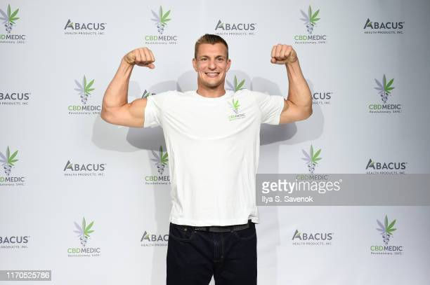 Rob Gronkowski at a press conference announced he is becoming an advocate for CBD and will partner with Abacus Health Products maker of CBDMEDIC...