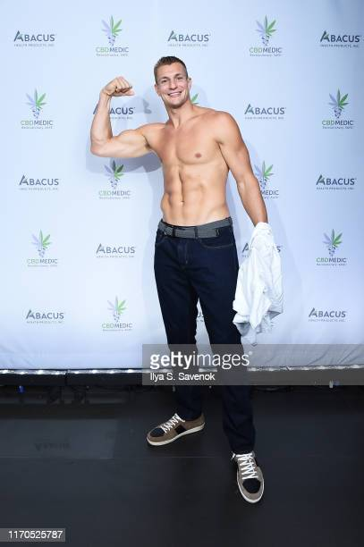 Rob Gronkowski at a press conference announced he is becoming an advocate for CBD and will partner with Abacus Health Products, maker of CBDMEDIC...