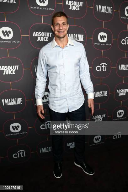 Rob Gronkowski attends the Warner Music Group Pre-Grammy Party at Hollywood Athletic Club on January 23, 2020 in Hollywood, California.
