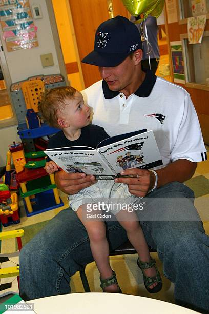 Rob Gronkowski New England Patriots rookie player visits patients at Children's Hospital Boston on June 9 2010 in Boston Massachusetts