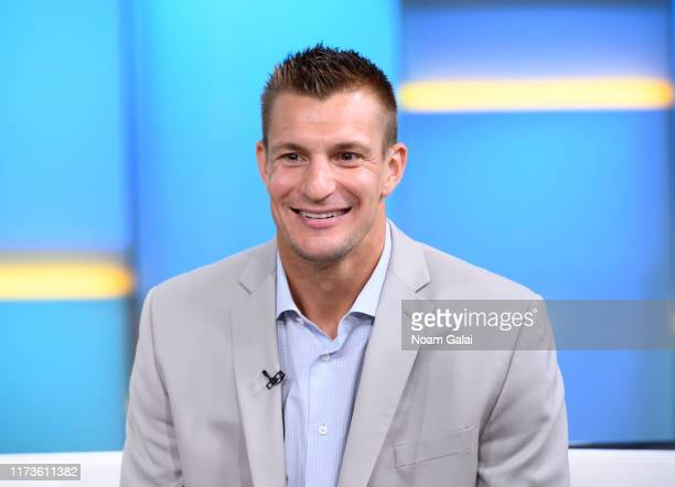 "Rob Gronkowski visits ""FOX & Friends"" at Fox News Channel Studios on September 10, 2019 in New York City."