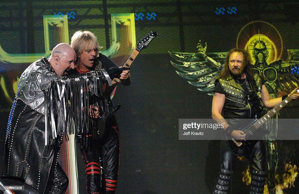 Rob Halford, Glenn Tipton and Ian Hill of Judas Priest