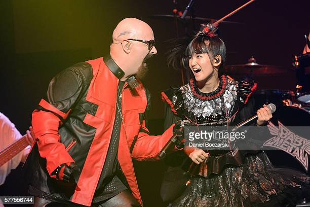 Rob Halford of Judas Priest and Sumetal of Babymetal perform during the Alternative Press Music Awards 2016 at Jerome Schottenstein Center on July 18...