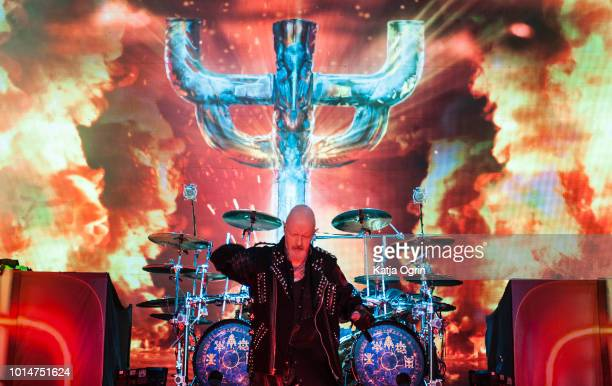 Rob Halford of Judas Priest performs at Bloodstock Festival at Catton Hall on August 10 2018 in Burton Upon Trent England