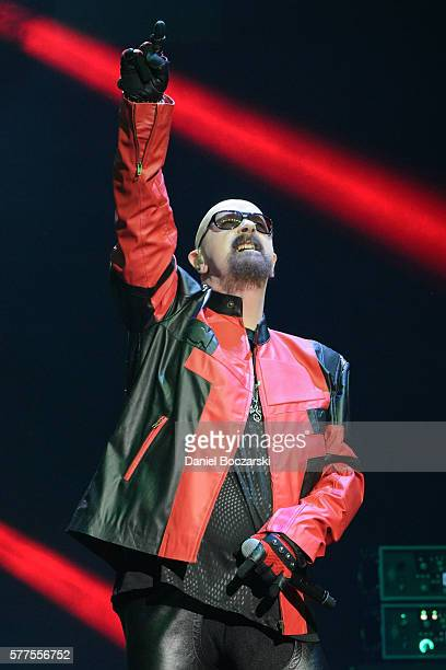 Rob Halford of Judas Priest performs during the Alternative Press Music Awards 2016 at Jerome Schottenstein Center on July 18 2016 in Columbus Ohio