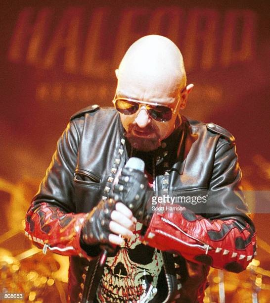 Rob Halford performs live at a concert September 17 2000 in Las Vegas NV