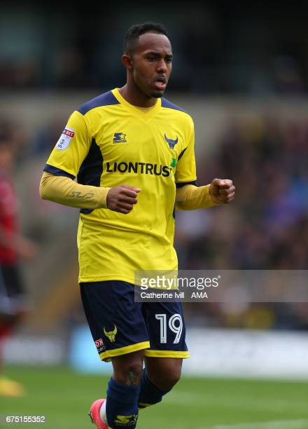 Rob Hall of Oxford United during the Sky Bet League One match between Oxford United and Shrewsbury Town at Kassam Stadium on April 30 2017 in Oxford...