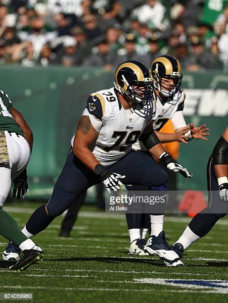 Rob Havenstein of the Los Angeles Rams in action against the New York Jets at MetLife Stadium on November 13, 2016 in East Rutherford, New Jersey.