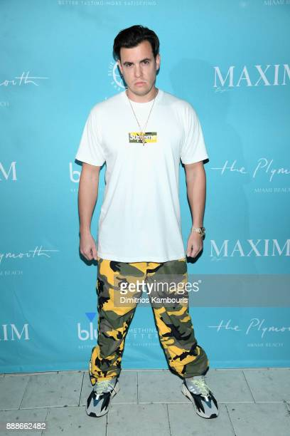 Rob Hepler attends the Maxim December Miami Issue Party Presented by blu on December 8 2017 in Miami Beach Florida
