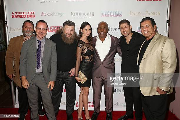 Rob Hickman Brian O'Shea Roy Nelson Sara Malakul Lane Mike Tyson Alain Moussi and Dimitri Logothetis attend AFM'16 The Exchange's 5 Year Anniversary...