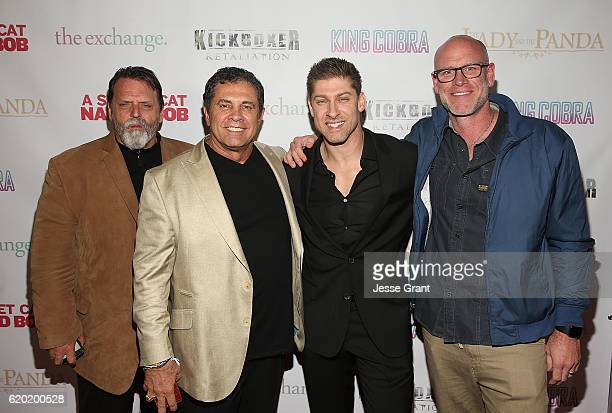 Rob Hickman Dimitri Logothetis Alain Moussi and Jay Strommen attend AFM'16 The Exchange's 5 Year Anniversary Celebration on November 1 2016 in Santa...