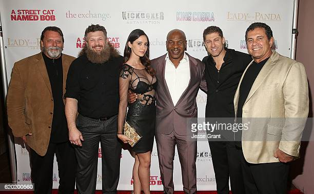 Rob Hickman Roy Nelson Sara Malakul Lane MIke Tyson Dimitri Logothetis and Alain Moussi attend AFM'16 The Exchange's 5 Year Anniversary Celebration...