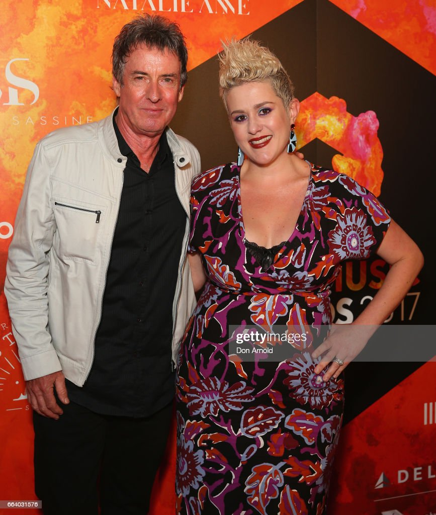 Rob Hirst and Katie Noonan arrive ahead of the 2017 APRA Music Awards on April 3, 2017 in Sydney, Australia.