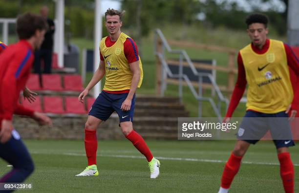 Rob Holding England U21 players during a training session at St Georges Park on June 7 2017 in BurtonuponTrent England