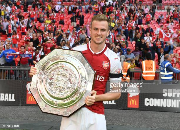 Rob Holding of Arsenal after the FA Community Shield match between Chelsea and Arsenal at Wembley Stadium on August 6 2017 in London England