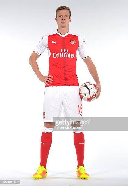 Rob Holding of Arsenal at the 1st team photocall at London Colney on August 3 2016 in St Albans England
