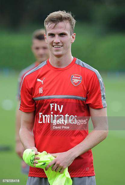 Rob Holding of Arsenal during a 1st team training session at London Colney on July 23 2016 in St Albans England