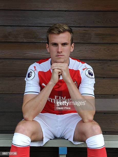 Rob Holding of Arsenal during the Arsenal 1st team photocall at London Colney on August 3 2016 in St Albans England