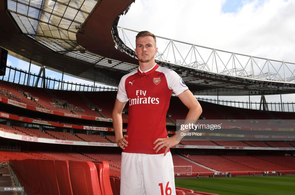Rob Holding of Arsenal during the Arsenal 1st team photocall at Emirates Stadium on August 3, 2017 in London, England.