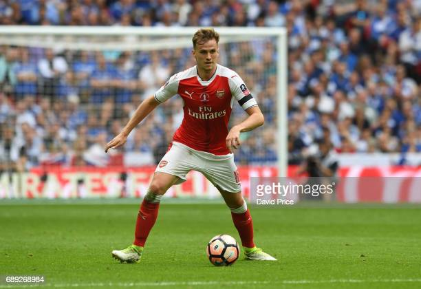 Rob Holding of Arsenal during the match between Arsenal and Chelsea at Wembley Stadium on May 27 2017 in London England