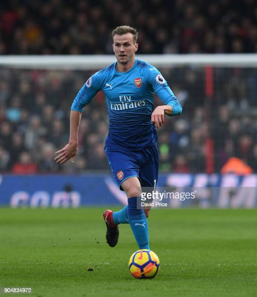 Rob Holding of Arsenal during the Premier League match between AFC Bournemouth and Arsenal at Vitality Stadium on January 14 2018 in Bournemouth...