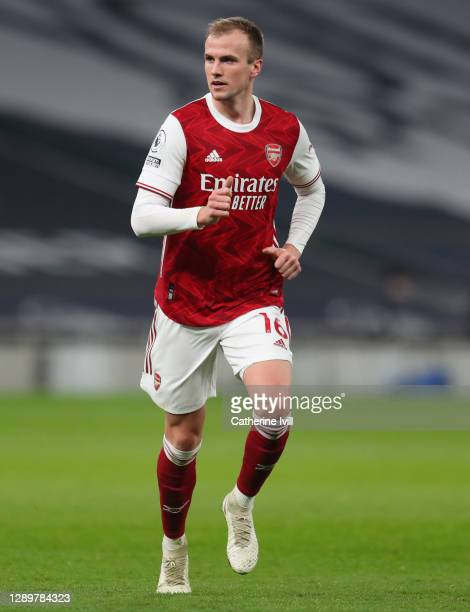 Rob Holding of Arsenal during the Premier League match between Tottenham Hotspur and Arsenal at Tottenham Hotspur Stadium on December 06, 2020 in...