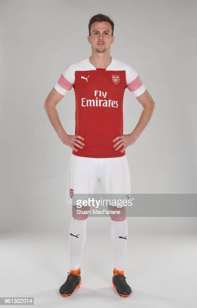 Rob Holding of Arsenal in the new home kit for season 201819 on March 16 2018 in St Albans England