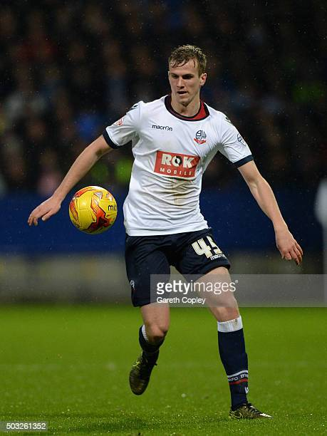 Rob Holding of Bolton during the Sky Bet Championship match between Bolton Wanderers and Huddersfield Town at the Macron Stadium on January 2 2016 in...